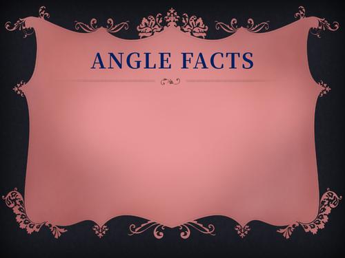 GCSE maths - Angle facts