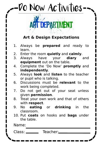 Cubist Masks Starter/ Do Now Booklet (15 lessons)