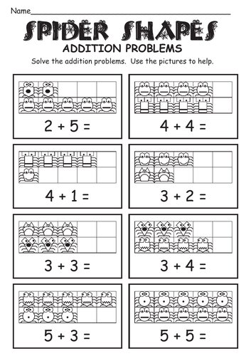 SPIDERS - MATHEMATICS - ADDITION and SUBTRACTION (to/from 10)