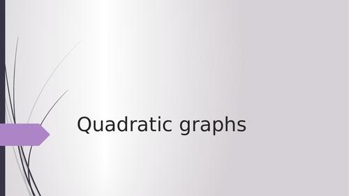 GCSE maths - Quadratics graphs