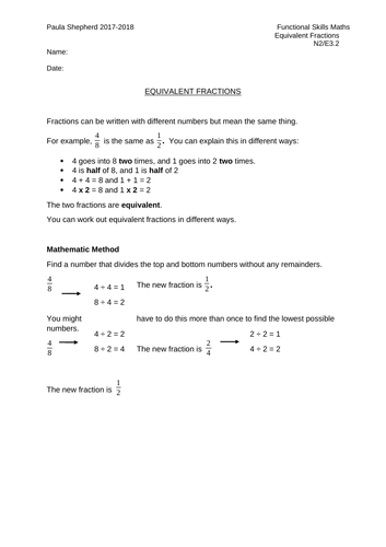 Working out fractions of items and money - FULL LESSON