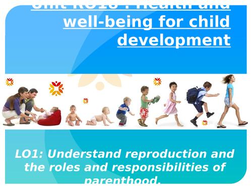 Cambridge National Child Development RO18 objective 1