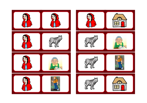 Red Riding Hood basic literacy selection, KS1, SEN, ASD