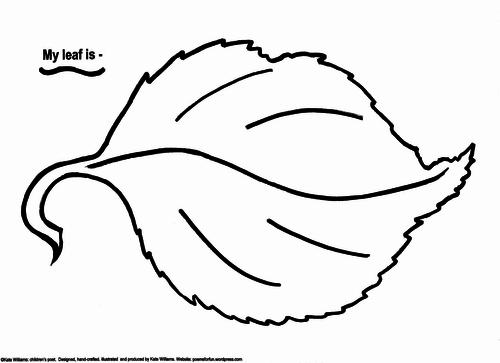 My leaf is...