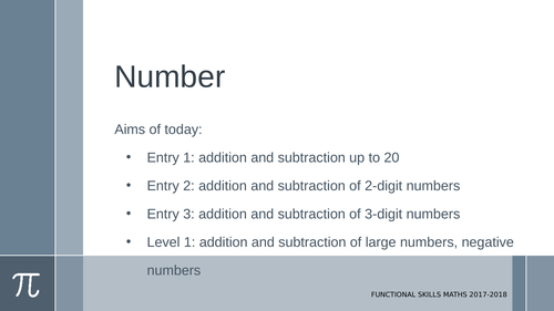 Addition and subtraction with/without carrying and borrowing: E1-L1