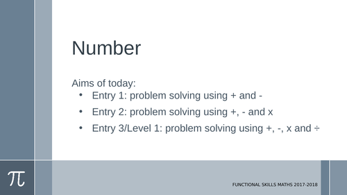 Applying multiplication and division, area and volume: E1-L1
