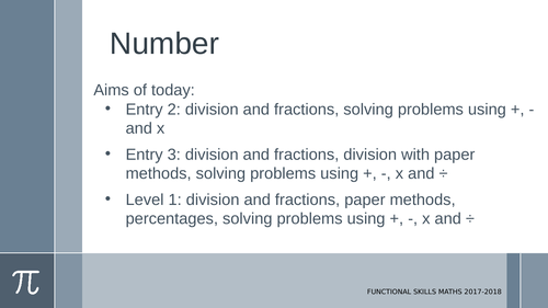 Working out fractions of numbers: E2-L1