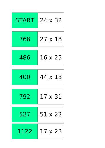 Long Multiplication Activities