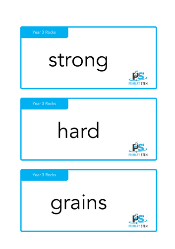 Year 3 Primary Science - Scientific Vocabulary Cards