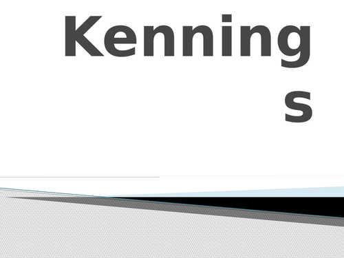 Kennings sequence plan and resources