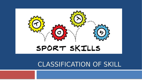 Classification of Skill and Characteristics of Skilful Movement