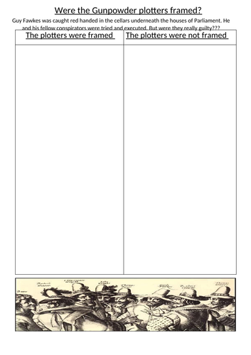 Where the Gunpowder plotters framed?
