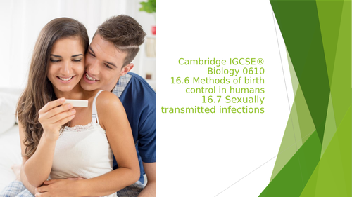 16.6 Methods of birth control in humans16.7 Sexually transmitted infections