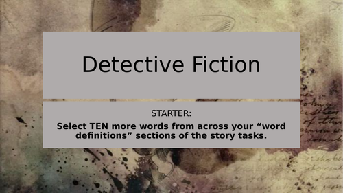 KS3: Detective Fiction - Sherlock Holmes. Workbook included. Reading and Writing SoW.