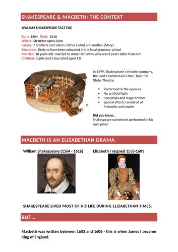 Macbeth Context (Detailed)