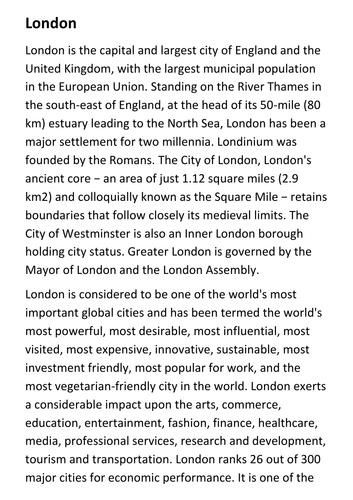 London Handout