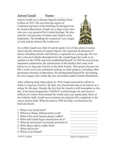Antoni Gaudi and La sagrada familia Reading (English Version)