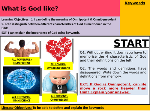Year 7 Lesson 2 - What is God like?