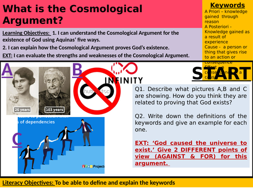 Year 7 - Lesson 3 - What is the Cosmological Argument?