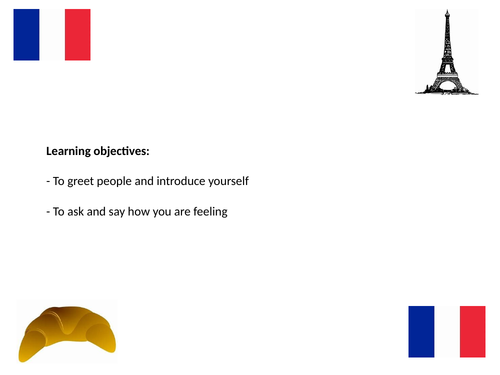 Year 7 French: greetings, name and how are