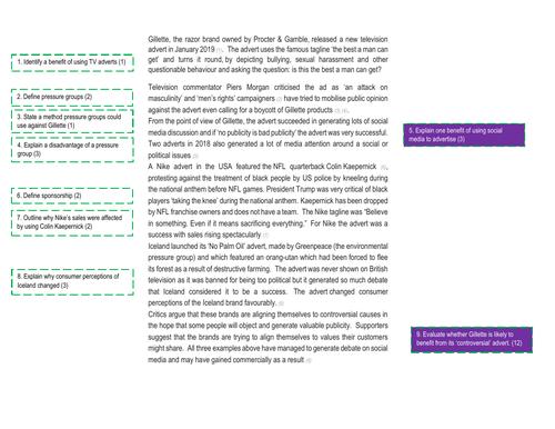 Edexcel GCSE Business (9-1) 2.2 Revision