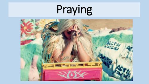 Christian Worship - Praying - Why is Kesha praying?