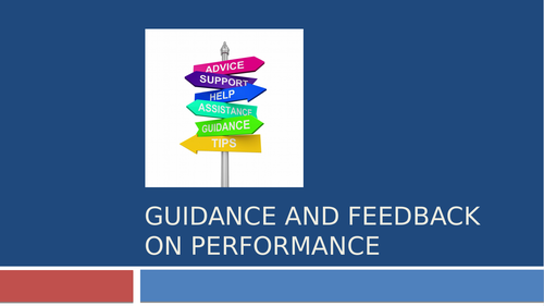 Types of Guidance and Feedback