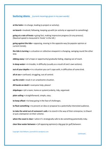 25 English Idioms linked to Seafaring