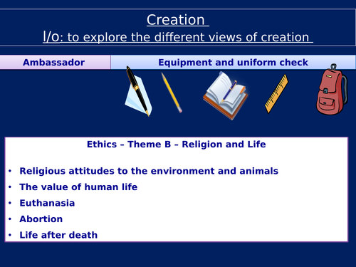 RE GCSE Creation and origins of the universe