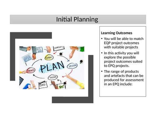 Extended Project Qualification - Initial planning