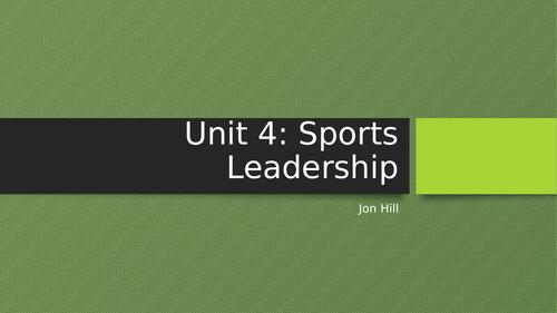BTEC Sport Unit 4: Sports Leadership Intro Lesson