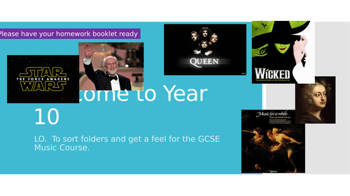 Year 10 Music GCSE Intro