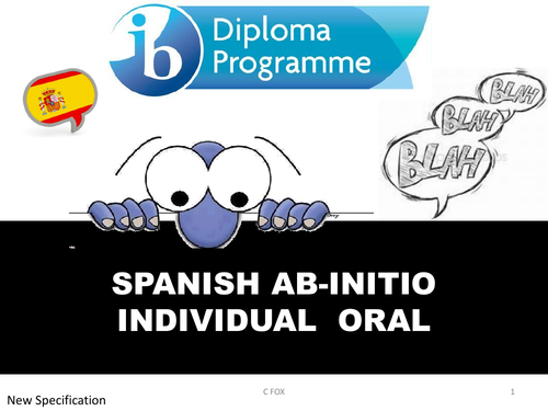 oral booklet spanish IB ab initio for new spec