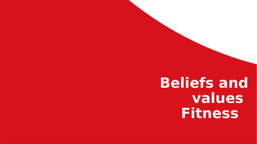 Fitness lesson for PSHE/Belief and Values/PE