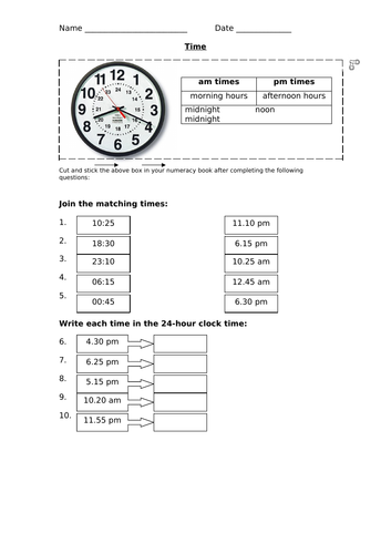 Year 3 Time Planning and Resources