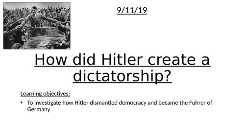 KS3  How did Hitler rise to power?