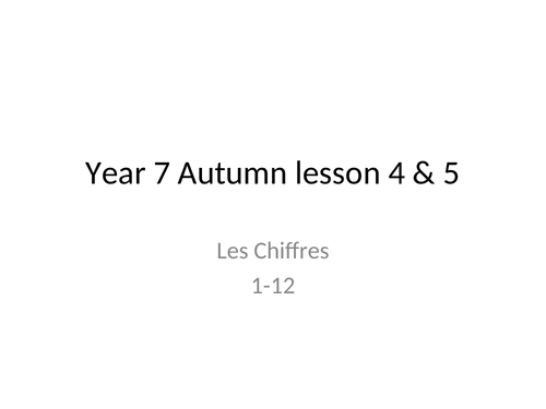 Bundle of resources on French numbers