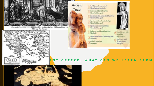 The resource explains Ancient Greece, its civilization and periods of history