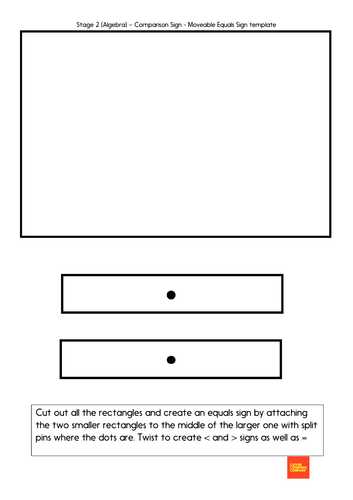 Greater than, less than, equals sign template