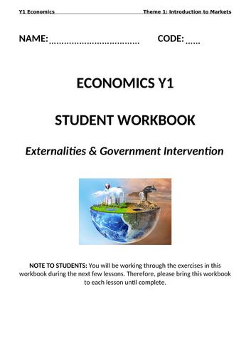 Economics: Market Failure  (NEW SPEC) - Edexcel
