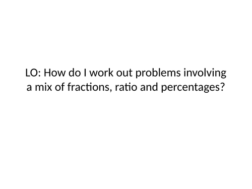 %FractionRatioMix problems
