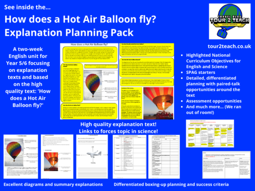 Explanation Text: Year 5/6: 'How does a Hot Air Balloon fly?'
