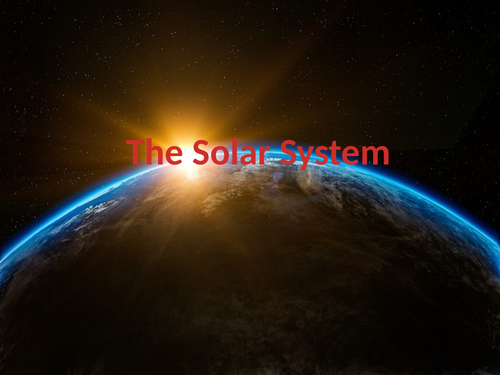 *SOLAR SYSTEM* KS3 KS4 animated PowerPoint with facts