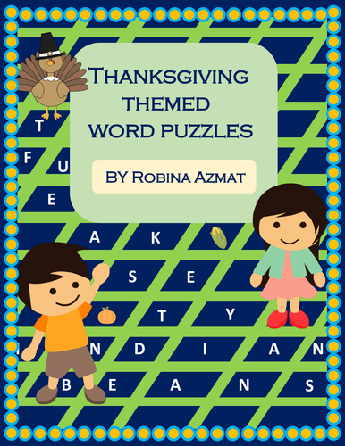 Thanksgiving Themed Word Puzzles