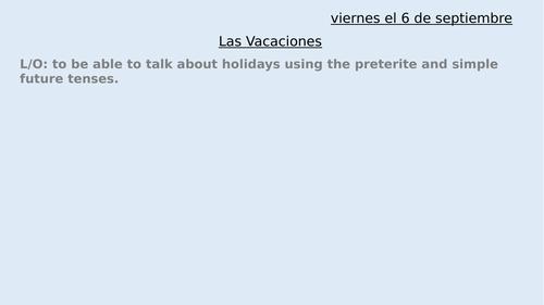 Las Vacaciones - transport & holiday activities