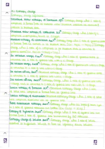 AQA A2 Physical Chemistry II