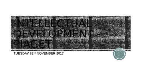 Health and Social Care - Unit 1 LAA - Intellectual Development