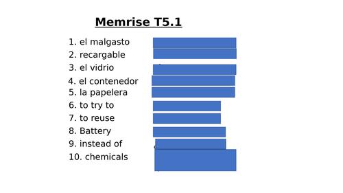 El medio ambiente - Year 10 - GCSE Spanish