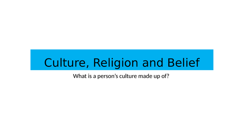 BTEC National Health and Social Care Level 3 Unit 1 Culture and Religion