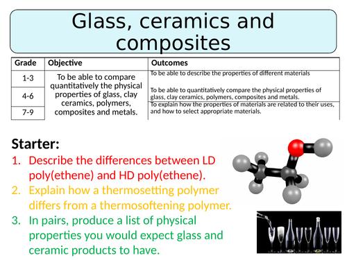 NEW AQA GCSE (2016) Chemistry  - Glass, ceramics & composites